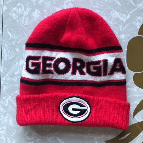 Nike Red Georgia Bulldog Dri-Fit Sideline Knit Hat